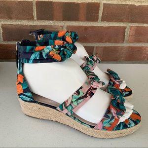 Nine West Allegro Fabric Espadrille Wedge Sandals